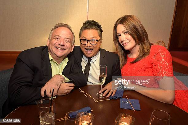 Marc Shaiman Alec Mapa and Michelle Collins attend the 2nd Annual Voices For The Voiceless Stars For Foster Kids Benefit after party at Blue Fin on...