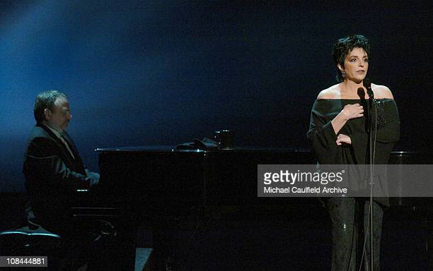 Marc Shaiman and Liza Minnelli during 16th Annual GLAAD Media Awards Hollywood Show at Kodak Theater in Los Angeles California United States