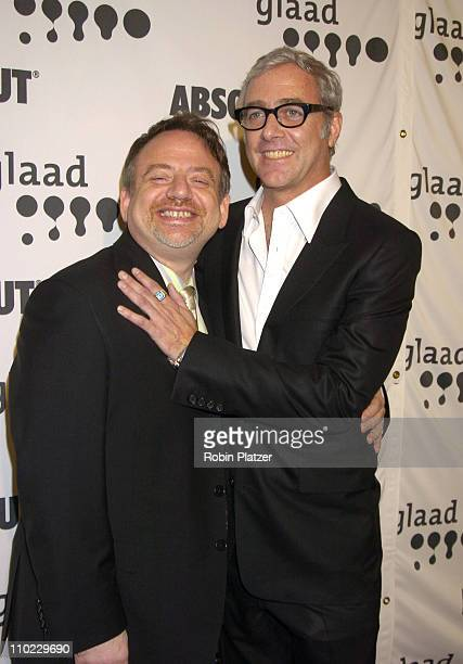 Marc Shaiman and Scott Wittman during 16th Annual GLAAD Media Awards at Marriott Marquis Hotel in New York City, New York, United States.