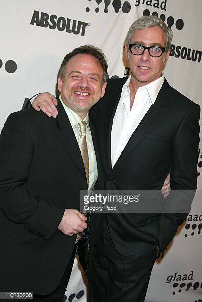 Marc Shaiman and Scott Wittman during 16th Annual GLAAD Media Awards Arrivals at Marriott Marquis in New York City New York United States