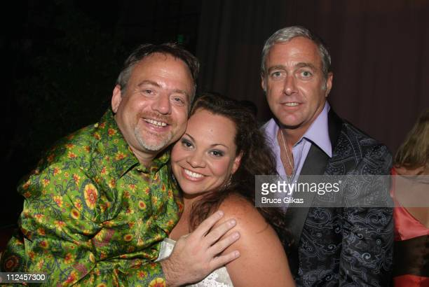 Marc Shaiman Keala Settle and Scott Wittman during Hairspray Opening Night Los Angeles After Party at Henry Fonda Theatre in Hollywood California...