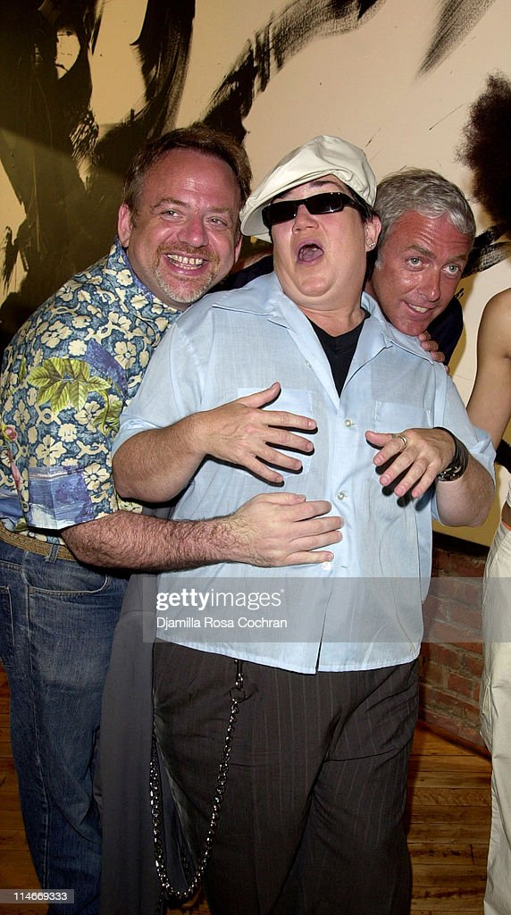 Marc Shaiman, Lea DeLaria and Scott Wittman during Marc Shaiman and Scott Wittman Host a Gala for LIVE OUT LOUD at Chelsea Art Museum in New York City, New York, United States.