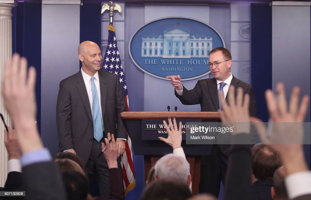 Marc Short And Mick Mulvaney Hold Briefing On Possible Government Shutdown