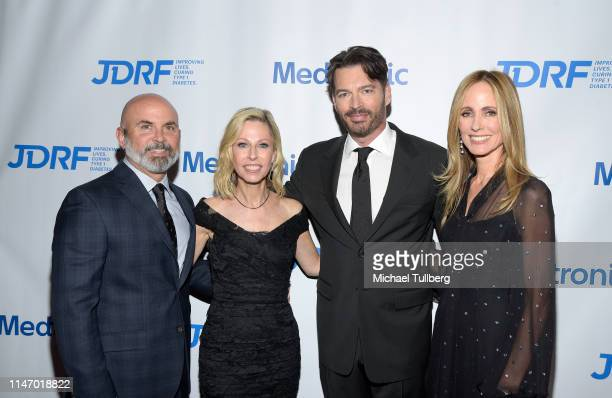 Marc Sidoti Robyn Sidoti Harry Connick Jr and Dana Walden attend JDRF's annual Imagine Gala at The Beverly Hilton Hotel on May 04 2019 in Beverly...