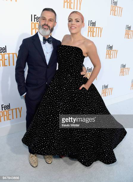 Marc Silverstein and Busy Philipps attend the premiere of STX Films' 'I Feel Pretty' at Westwood Village Theatre on April 17 2018 in Westwood...