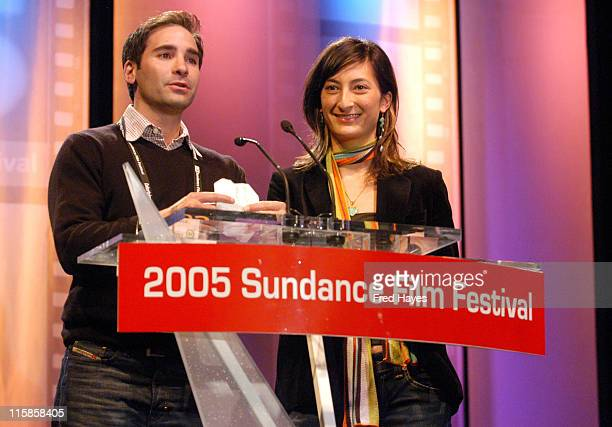 Marc Simon producer and Jessica Sanders winner of the Special Jury Prize Documentary for After Innocence