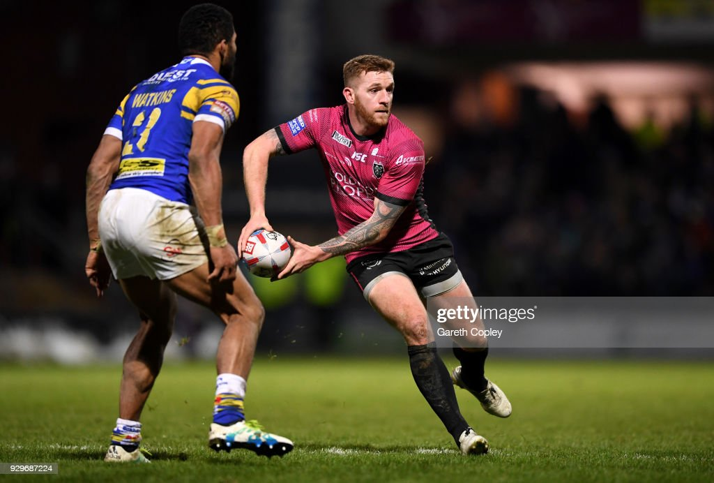 Marc Sneyd of Hull FC during the Betfred Super League match between Leeds Rhinos and Hull FC at Headingley Stadium on March 8, 2018 in Leeds, England.