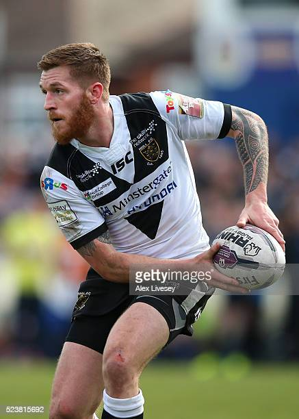 Marc Sneyd of Hull FC passes the ball during the First Utility Super League match between Wakefield Wildcats and Hull FC at The Rapid Solicitors...