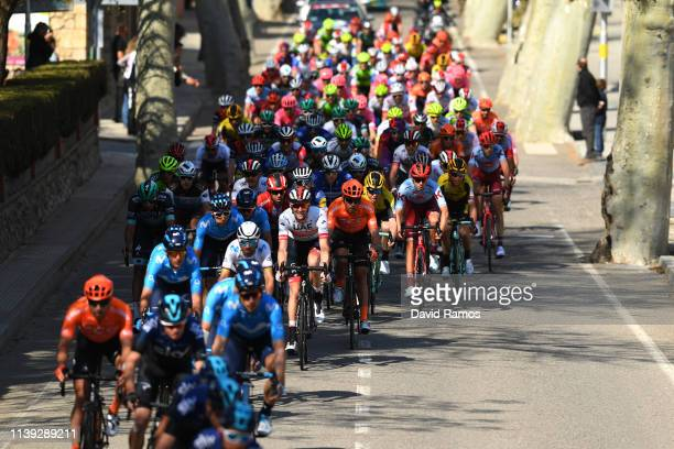 Marc Soler of Spain and Movistar Team / Alejandro Valverde Belmonte of Spain and Movistar Team / Carlos Verona of Spain and Movistar Team / Rory...