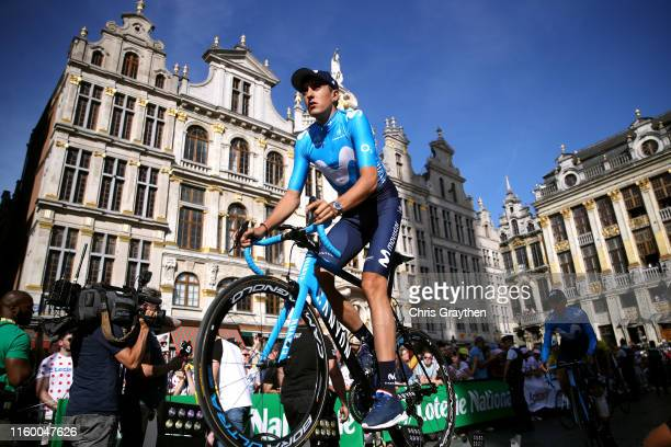 Marc Soler of Spain and Movistar Team / during the 106th Tour de France 2019 Team Presentation / Public / Landscape / Brussels Grand Départ 2019 /...