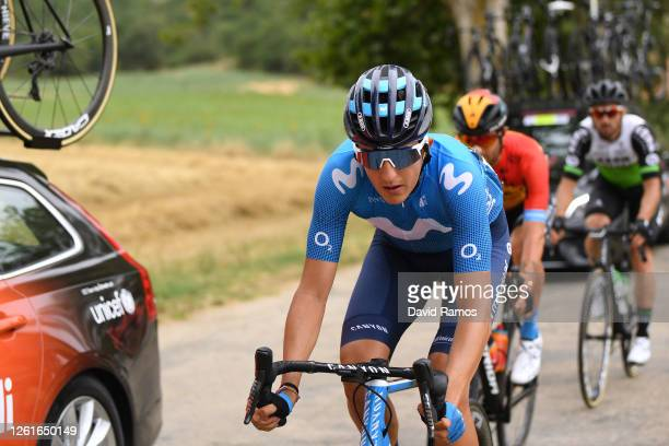 Marc Soler of Spain and Movistar Team / during the 42nd Vuelta a Burgos 2020, Stage 1 a 157km stage from Burgos to Burgos - Alto del Castillo 976m /...