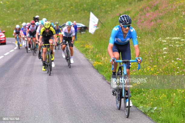 Marc Soler of Spain and Movistar Team / during the 70th Criterium du Dauphine 2018 Stage 5 a 130km stage from Grenoble to Valmorel 1369m on June 8...