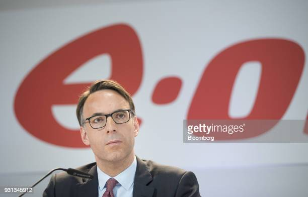 Marc Spieker chief financial officer of EON SE pauses during a news conference in Essen Germany on Tuesday March 13 2018 EON will shed as many as...