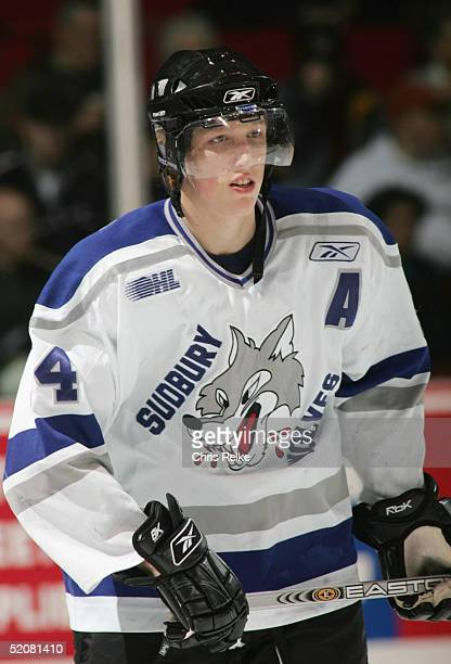 Marc Staal of the Sudbury Wolves looks on during the annual Top Prospects Game & Skills competition at the Pacific Coliseum on January 18, 2005 in...