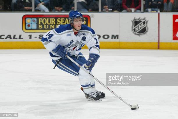 Marc Staal of the Sudbury Wolves skates against the London Knights at the John Labatt Centre on October 6, 2006 in London, Ontario, Canada.