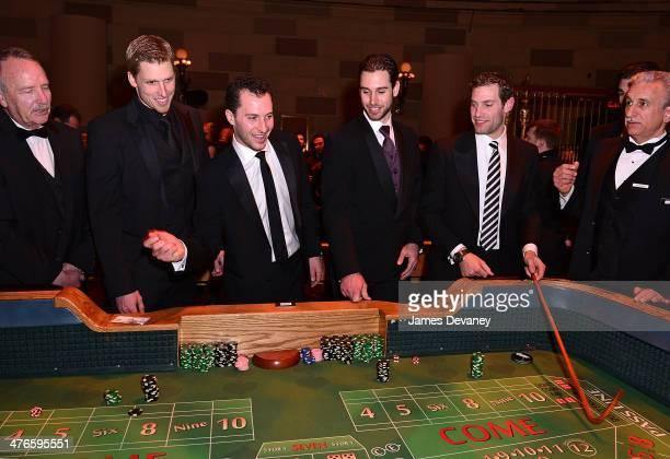 Marc Staal Ryan Callahan Cam Talbot and Dan Girardi attend the 2014 New York Rangers Casino Night To Benefit The Garden Of Dreams Foundation at...