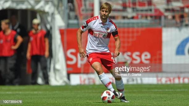 Marc Stein of Cottbus runs with the ball during the 3. Liga match between FC Energie Cottbus and F.C. Hansa Rostock at Stadion der Freundschaft on...