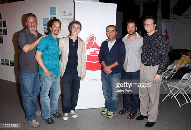 Marc Stollman Elsten Torres Ramon Arias Donato Poveda Jorge Mejia and Gabriel Abaroa attend the Latin Recording Academy Acoustic Sessions at The...