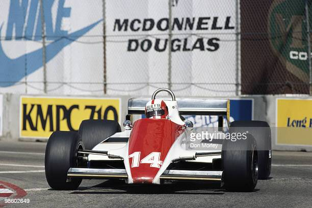 Marc Surer drives the Ensign N180B Cosworth during the United States Grand Prix West on 15 March 1981 at the Long Beach street circuit in Long Beach...