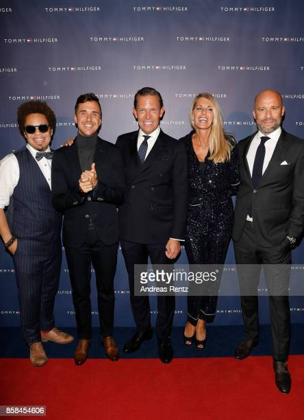 Marc Sway Jan Dettwyler CEO Tommy Hilfiger and PVH Europe Daniel Grieder his wife Sandra Grieder and CCO PVH Europe Oliver Timm attend the Tommy...
