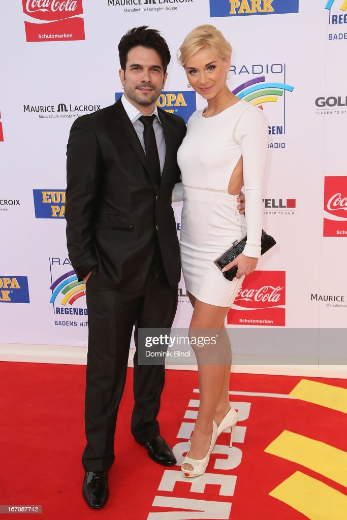 Marc Terenzi and Julia attend the Radio Regenbogen Award 2013 at Europapark on April 19, 2013 in Rust, Germany.
