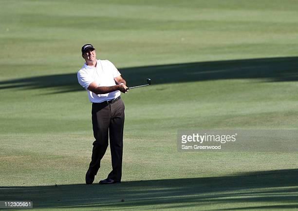 Marc Turnesa plays a shot during the third round of the Transitions Championship at Innisbrook Resort and Golf Club on March 19 2011 in Palm Harbor...
