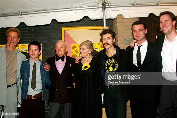 Marc Turtletaub producer Elijah Wood Boris Leskin Laryssa Lauret Eugene Hutz from Gogol Bordello Liev Schreiber writer/director and Peter Saraf...