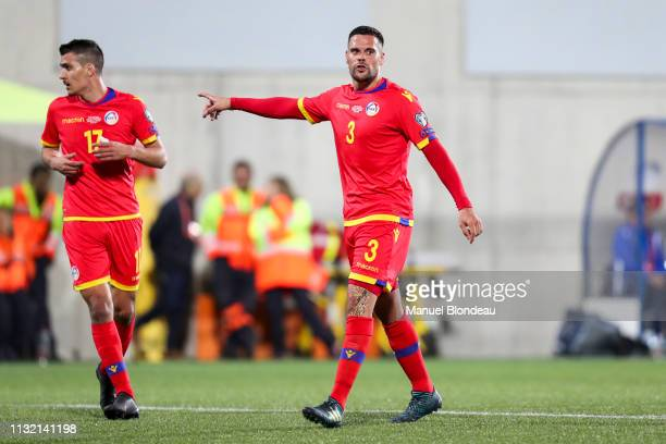 Marc Vales of Andorra during the Qualifying European Championship match between Andorra and Iceland at Estadi Nacional on March 22, 2019 in Andorra...