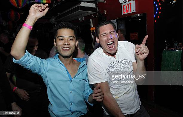Marc Valitutto and Alex Carr attend Alex Carr's birthday celebration at The Stonewall Inn on June 16 2012 in New York City