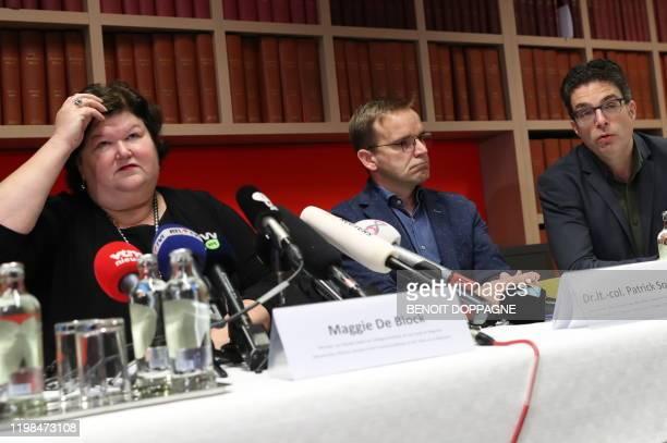 Marc Van Ranst virologist KULeuven Minister of Health Social Affairs Asylum Policy and Migration Maggie De Block Lieutenant Colonel Patrick Soentjes...