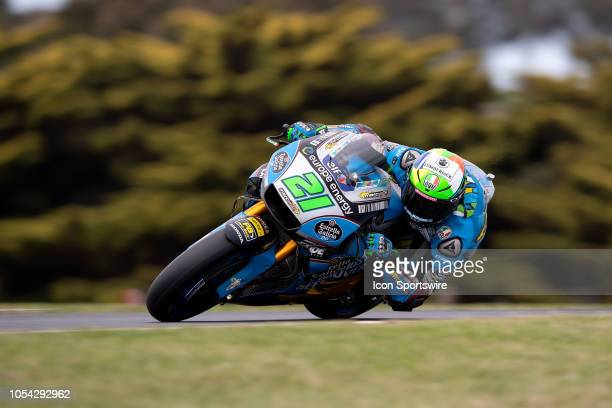 Marc VDS Honda rider Franco Marbidelli in qualifying during The 2018 Australian MotoGP at The Phillip Island Circuit in Victoria Australia on October...
