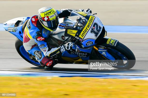 Marc VDS' rider Tom Luthi of Switzerland rides during the MotoGP Official Test at Chang International Circuit on 16 February 2018 in Buriram Thailand