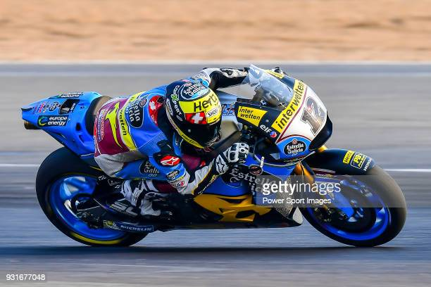 Marc VDS' rider Tom Luthi of Switzerland rides during the MotoGP Official Test at Chang International Circuit on 18 February 2018 in Buriram Thailand