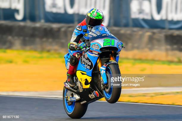 Marc VDS's rider Franco Morbidelli of Italy rides during the MotoGP Official Test at Chang International Circuit on 18 February 2018 in Buriram...