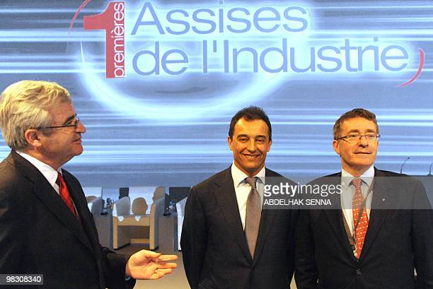 Marc Ventre deputy director general of the group Safran Ahmed Reda Chami Moroccan industry minister and Jacques Chauvet director general of Renault...