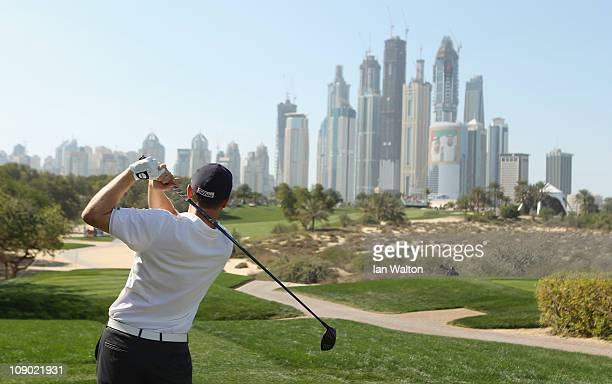 Marc Warren of Scotland in action during the third round for the 2011 Omega Dubai desert Classic held on the Majilis Course at the Emirates Golf Club...