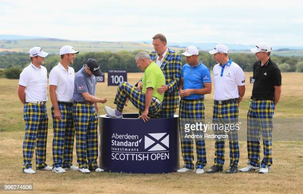 Marc Warren of Scotland Kevin Chappell of the USA Russell Knox of Scotland Gavin Hastings and Doddie Weir David Howell of England Stephen Gallacher...