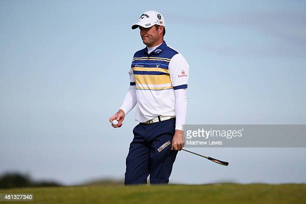 Marc Warren of Scotland walks off the 11th green during the third round of the 144th Open Championship at The Old Course on July 19 2015 in St...