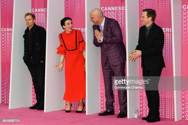 Marc WarrenAmanda Abbington Harlan Coben and Michael C Hall from the serie 'Safe' attend Closing Ceremony and Safe screening during the 1st Cannes...