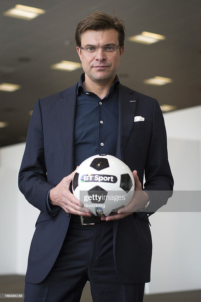 Marc Watson, head of BT Vision at BT Group Plc, poses for a photograph during the launch of the company's new sports television channel BT Sport in London, U.K., on Thursday, May 9, 2013. British Sky Broadcasting Group Plc, the U.K.'s largest pay-TV broadcaster, fell the most in almost a year after BT Group Plc unveiled sports channels to compete with the Rupert Murdoch-controlled satellite operator. Photographer: Simon Dawson/Bloomberg via Getty Images