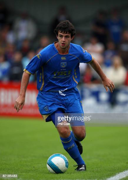 Marc Wilson of Portsmouth during a PreSeason Friendly match between Havant Waterlooville and Portsmouth at Westleigh Park on August 05 in Havant...