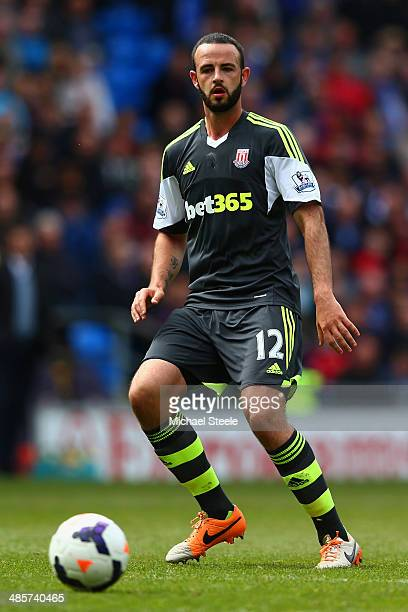 Marc Wilson of Stoke City during the Barclays Premier League match between Cardiff City and Stoke City at the Cardiff City Stadium on April 19 2014...
