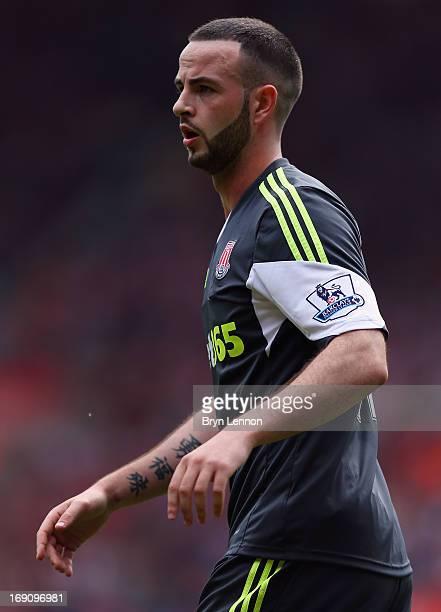 Marc Wilson of Stoke City looks on during the Barclays Premier League match between Southampton and Stoke City at St Mary's Stadium on May 19 2013 in...