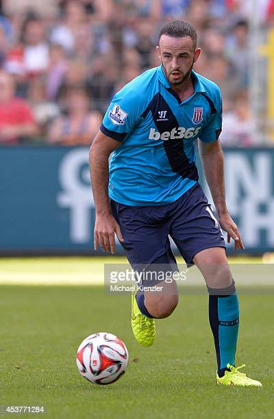 Marc Wilson of Stoke City runs with ball during the pre season friendly match between SC Freiburg and Stoke City FC at Mage Solar Stadium on August...