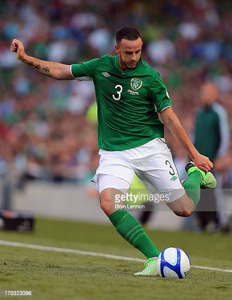 Marc Wilson of the Republic of Ireland in action during the FIFA 2014 World Cup Qualifier between Republic of Ireland and the Faroe Islands at the...