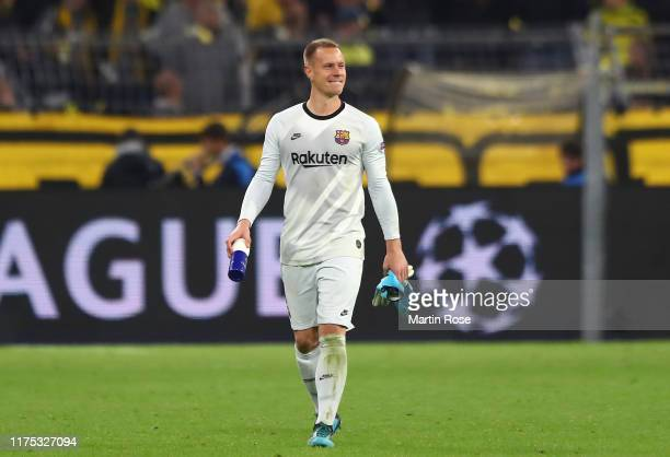 MarcAndré ter Stegen of FC Barcelona looks on after the UEFA Champions League group F match between Borussia Dortmund and FC Barcelona at Signal...