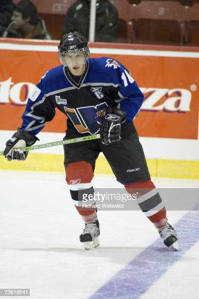 MarcAndre Cliche of the QMJHL AllStars skates during the warmup prior to facing the the Russia Selects during the 2006 ADT CanadaRussia Challenge at...
