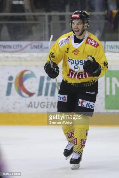 MarcAndre Dorion of Vienna during the Vienna Capitals v EC VSV Erste Bank Eishockey Liga at Erste Bank Arena on January 18 2019 in Vienna Austria