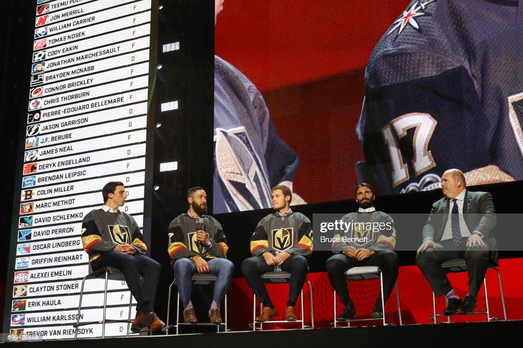 2017 NHL Expansion Draft Roundtable : News Photo
