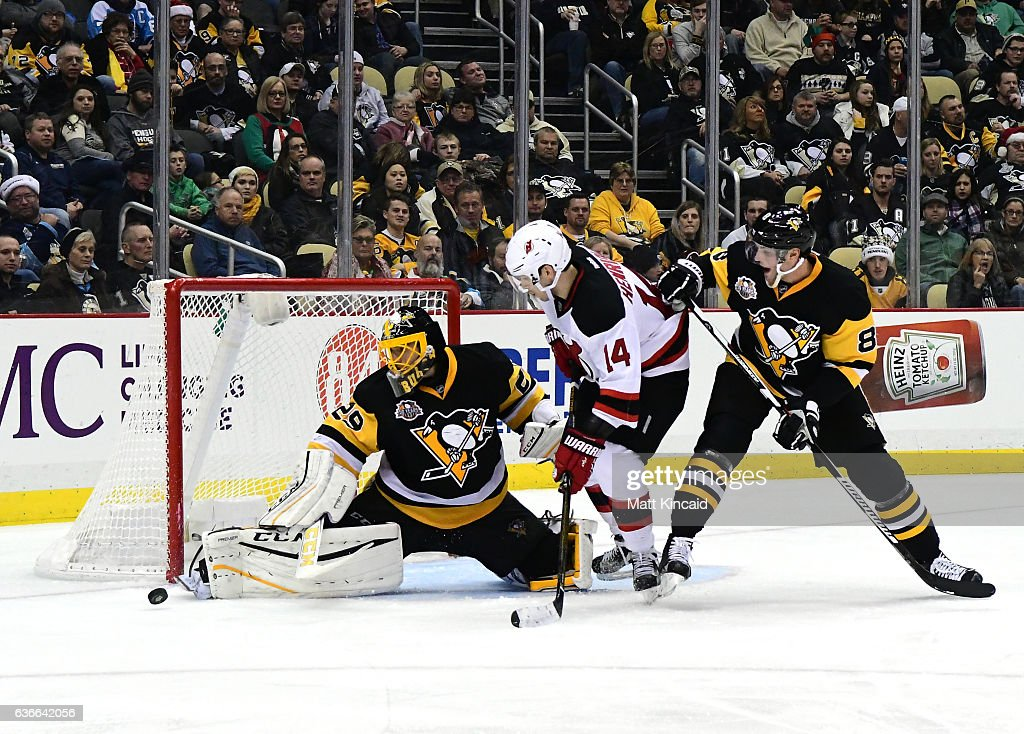 official photos 200a0 8724f Marc-Andre Fleury of the Pittsburgh Penguins makes a save ...